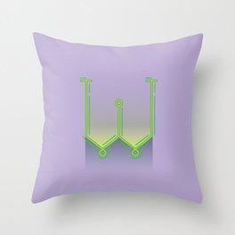 Alphabet Drop Caps Series- W Throw Pillow