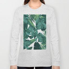 Tropical Summer Jungle Leaves Dream #2 #tropical #decor #art #society6 Long Sleeve T-shirt