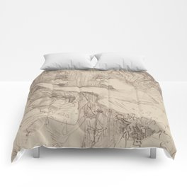 """Henri de Toulouse-Lautrec """"Guy et Mealy, dans Paris qui Marche"""" Comforters"""