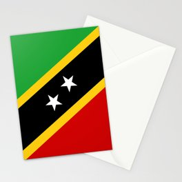 Saint Kitts and Nevis country flag Stationery Cards