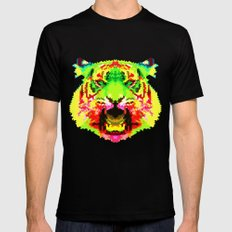 Tiger Black X-LARGE Mens Fitted Tee