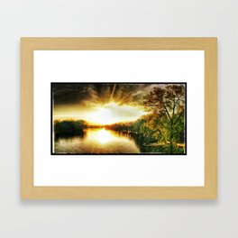 Sunset, My Lover Framed Art Print