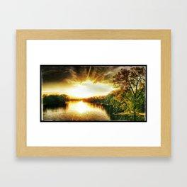 Sunset, My Lover Framed Art Print