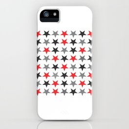 Black Grey Red Stars iPhone Case