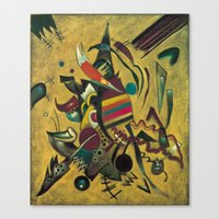 kandinsky Canvas Prints featuring Wassily Kandinsky 1920 Points by Artlala for MSF Doctors Without Borders