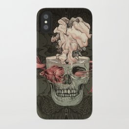 Red Fish and Smokey Skull iPhone Case