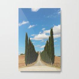 Italian Country Roads  Metal Print