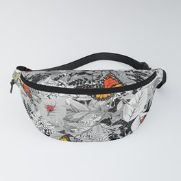 Bugs and foliage Fanny Pack