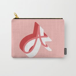 Letter A Pink Carry-All Pouch