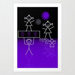 stick figures -31- Art Print