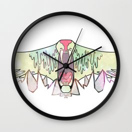 WE WILL DEVOUR MOUNTAINS Wall Clock