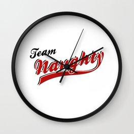 Team Naughty Wall Clock