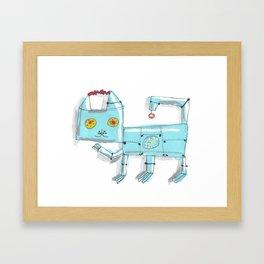 Robo Kitty Framed Art Print