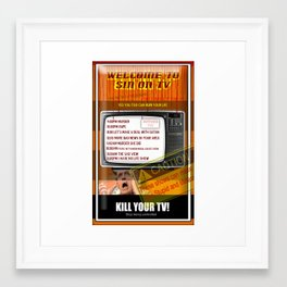 Sin TV Framed Art Print