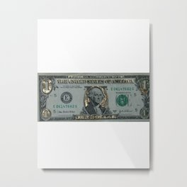 The Golden Dollar Metal Print