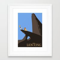 the lion king Framed Art Prints featuring Lion King by TheWonderlander