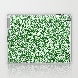 Tiny Spots - White and Dark Green Laptop & iPad Skin