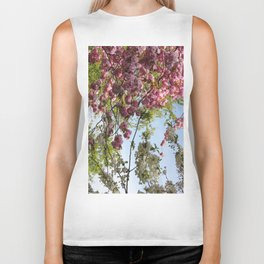 Pink and White Blossoms Biker Tank