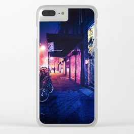Lower East Side - Night on Rivington Street Clear iPhone Case