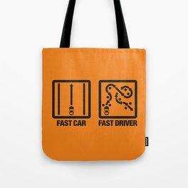 Fast Car - Fast Driver v2 HQvector Tote Bag