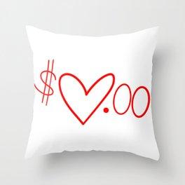 Love <$$ Throw Pillow