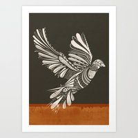 peace Art Prints featuring PEACE by Mathis Rekowski