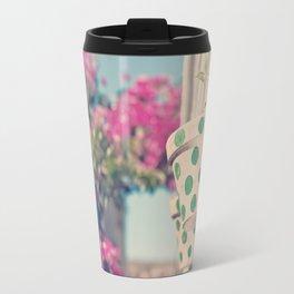 Nature and polka dots Travel Mug