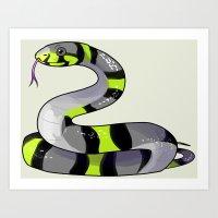 Agender Snake Art Print
