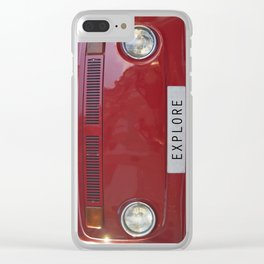 Wander van. Summer dreams. Red Clear iPhone Case