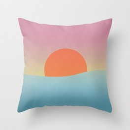Sunset at the sea Throw Pillow