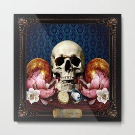 The Curiosity Shop Skull Metal Print