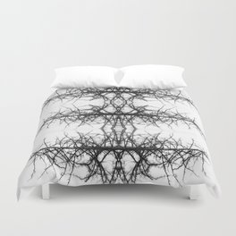 Black and white tree Duvet Cover