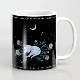 Cat Dreaming of the Moon Coffee Mug