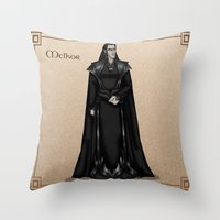 valar morghulis Throw Pillows featuring Melkor by wolfanita