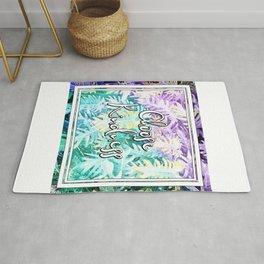 Choose Kindness - A tropical themed print Rug