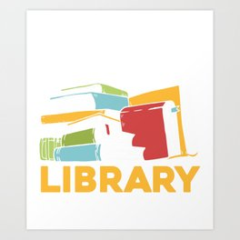 Local Library Support Book Reading Bookworm Art Print