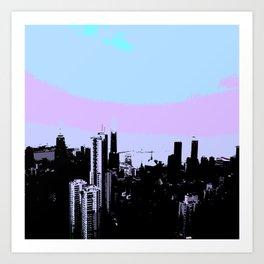 Abstract Hong Kong Art Print
