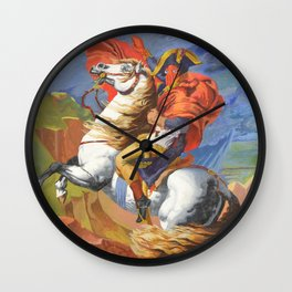Crossing the St. Bernard I Wall Clock