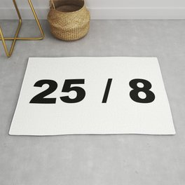 25 / 8 Extra Hour Extra Day to Party Minimal Typography Humor Rug