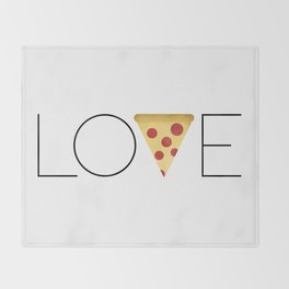 Love = Pizza Throw Blanket