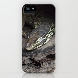 Sleeping lace monitor iPhone Case