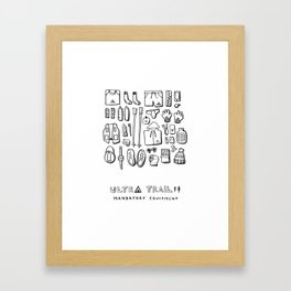 Ultra Trail - Mandatory Equipment Framed Art Print
