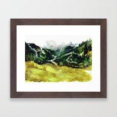 The flow of nature Framed Art Print