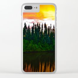 Summer Sun Almost Sets in Alaska Clear iPhone Case