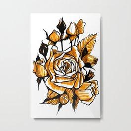 Roses sketch Metal Print