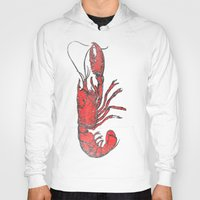 lobster Hoodies featuring Lobster by Carl Christensen
