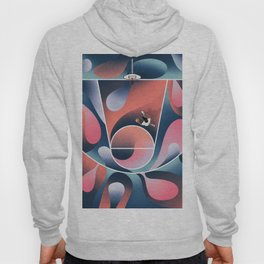 Basketball Court From Above | Abstract Art Hoody