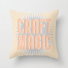 Craft Magic // Coral Throw Pillow