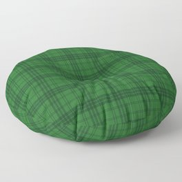 Green Plaid  Floor Pillow