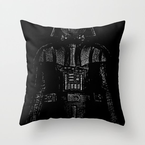 Darth Magritte Throw Pillow
